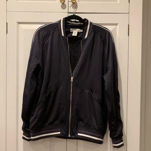 Satin material varsity/bomber jacket